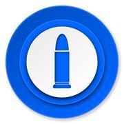 ammunition icon, weapoon sign. - stock illustration