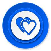 Stock Illustration of love icon, valentine sign, hearts symbol.