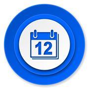 Calendar icon, organizer sign, agenda symbol. Stock Illustration