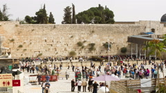 Wailing Wall . Stock Footage