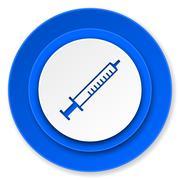 medicine icon, syringe sign. - stock illustration