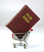 Shopping for religion. Stock Photos
