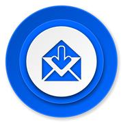 email icon, post message sign. - stock illustration