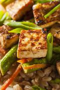 Homemade tofu stir fry Stock Photos