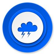 Stock Illustration of storm icon, waether forecast sign.