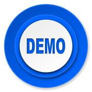demo icon. - stock illustration