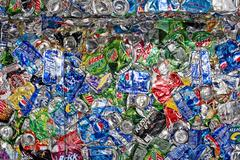Crushed Cans Stock Photos