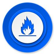 Flame icon. Stock Illustration