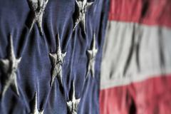 Old Glory Close Up - stock photo