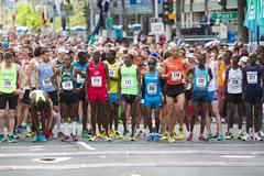 Bloomsday Fun Run 2014 Starting Line Men's Elite - stock photo