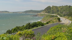 Oregon Coast Highway 101, Port Orford (zoom out) - stock footage