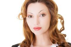 Portrait of beautiful business woman. Stock Photos