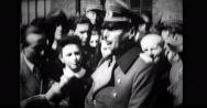 Major General Schrapwitz talking to Hitler youth Stock Footage