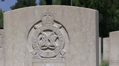 Italy - world War II - Military cemetery with gravestones Stock Footage