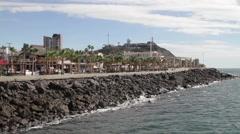 Boardwalk - rocky point, mexico Stock Footage