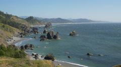 Port Orford, Oregon coastline closeup Stock Footage