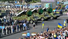 Military vehicles of the armed forces of Ukraine - stock footage