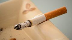Burning cigarette6 Stock Footage