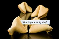"Fortune cookie: ""This is your lucky Day!"" Stock Photos"