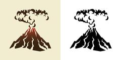 Stock Illustration of volcano