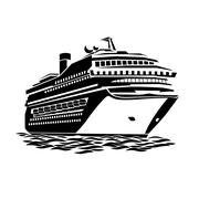 Big cruise liner Stock Illustration