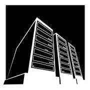 Data center black Piirros