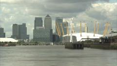 o2 Arena & Canary Wharf Long Shot (3) - stock footage