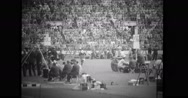 Participants of throw a javelin event at the Olympics Stock Footage