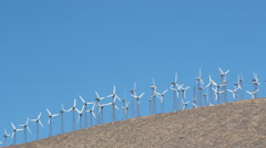 Wind Farm on Hill Palm Springs California Stock Footage