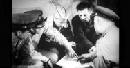 Group of military pilots and officer discussing Stock Footage