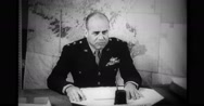Military officer talking in meeting Stock Footage