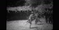 Bontoc Igorot men performing tribal dance Stock Footage