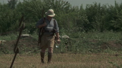 WW1 British soldier in the tropics Stock Footage
