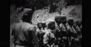 Bontoc Igorot soldiers standing in a row Stock Footage
