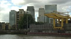 Canary Wharf Tracking Shot (3) Stock Footage