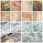 Marble background set marble texture - stock photo