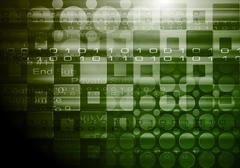 Vector abstract hi-tech backdrop - stock illustration