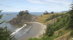 Pretty cove, Southern Oregon coast Stock Footage