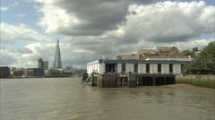 The Shard + Tower Bridge Long Shot Stock Footage