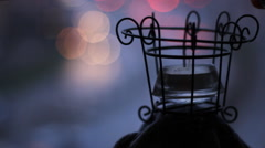 christmas candle light romantic day holiday - stock footage