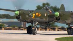 P-38 Lightning Ruff Stuff Taxi In Stock Footage