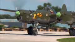 P-38 Lightning Ruff Stuff Taxi In Stock Footage