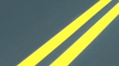 Closeup of road line, then change of lanes and stop Stock Footage