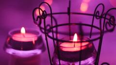 christmas candle light - stock footage
