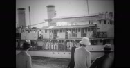 Ambassador Nelson Trusler Johnson travelling in ship Stock Footage