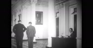 Diplomats walking in State Department office Stock Footage
