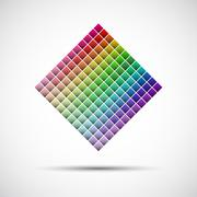 Color palette isolated on white background, vector illustration Stock Illustration
