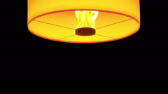 HD beautiful Lanterns float isolated on black ,white background Stock Footage