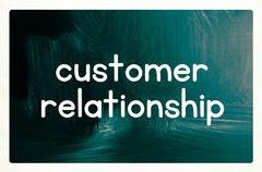 customer relationship concept - stock photo