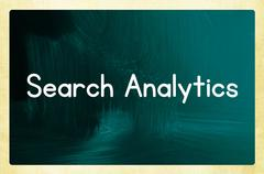 search analytics concept - stock photo